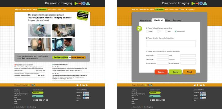 Diagnostic Imaging Website Screenshots